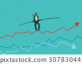 businessman, sales, tightrope 30783044