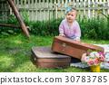girl, child, suitcase 30783785