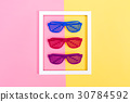 Shutter shades sunglasses on a vibrant background 30784592