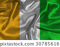 Cote d'ivoire flag 3D illustration symbol. 30785616