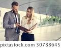 Businesspeople Talk Men Women Notebook 30788645