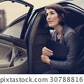 Businesswoman Corporate Taxi Transport Service 30788816