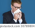 Business Man Sick Cry Tissue Paper 30789804