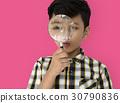 Child Boy Studio Portrait Gesture 30790836