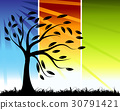 tree, vector, silhouette 30791421