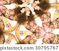 Bright brunette in kaleidoscope 30795767