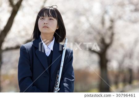 Pretty school girls wearing uniforms 30796461