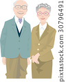 elderly couple old 30796491