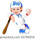 棒球 男孩 卡通 30796656