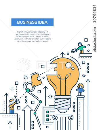 Business Idea - line design brochure poster 30796832