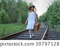 หญิงสาว,การเดินทาง,การท่องเที่ยว 30797128