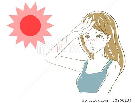 여름 태양 자외선 30800134
