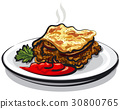 moussaka with sauce 30800765