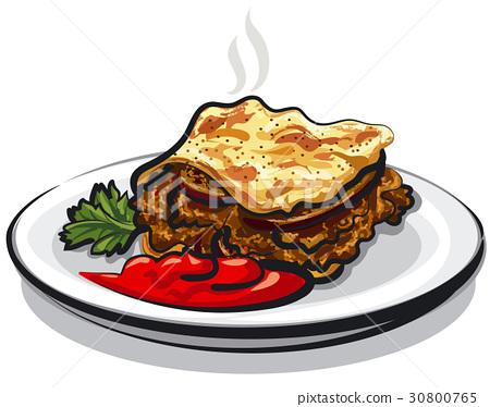 moussaka with sauce 30800765