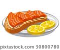 salmon sandwich bread 30800780