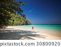 idillyic tropical hidden beach,Thailand 30800920
