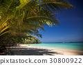 idillyic tropical hidden beach,Thailand 30800922