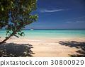 idillyic tropical hidden beach,Thailand 30800929