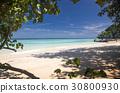 idillyic tropical hidden beach,Thailand 30800930