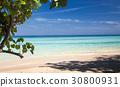 idillyic tropical hidden beach,Thailand 30800931