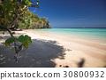 idillyic tropical hidden beach,Thailand 30800932