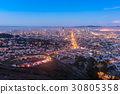 Twin Peaks and Downtown San Francisco 30805358