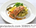 salmon, gril, grill 30805717