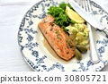 salmon, gril, grill 30805721