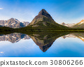 Swiftcurrent Lake and Reflection 30806266