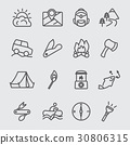 Camping line icon 30806315