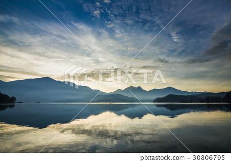 Scenery of Sun Moon Lake in Taiwan, Asia. 30806795