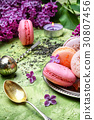 dessert of french macaroons 30807456