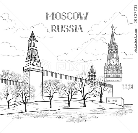 Red square Moscow city. Travel Russia background 30807735