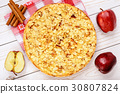 Apple pie with cream cheese and almond  30807824