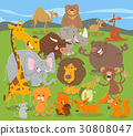 cute animal characters group 30808047