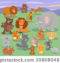 wild animal characters group 30808048