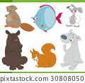 animals, cartoon, collection 30808050