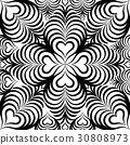 Abstract seamless pattern. Heart shape ornament 30808973