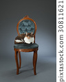 의자에 앉아 고양이 30811621