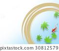熱夏季日本模式蓮花熱夏季金魚 30812579