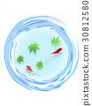 熱夏季日本模式蓮花熱夏季金魚 30812580