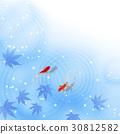 熱夏季日本模式蓮花熱夏季金魚 30812582
