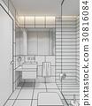bathroom, interior, mirror 30816084