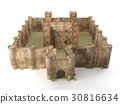 3d render stone brick stronghold isolated 30816634