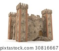 3d render stone brick stronghold isolated  30816667
