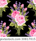 Seamless floral pattern with flowers 30817015