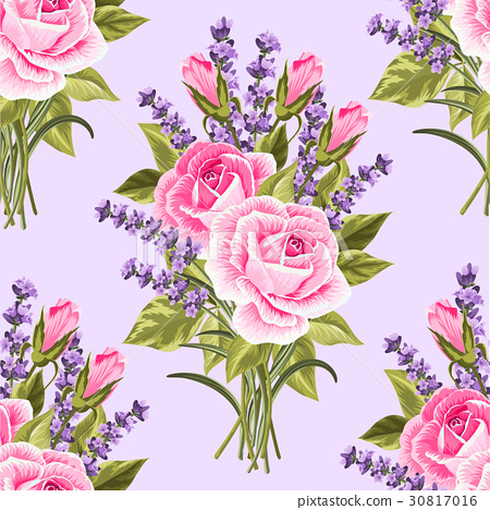 Seamless floral pattern with flowers 30817016