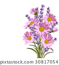 Beautiful daisies and lavender flowers 30817054