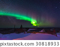 Colorful Northern lights in the dark night 30818933