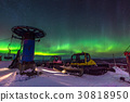 Colorful Northern lights in the dark night 30818950